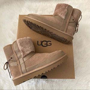 New UGG Classic Leopard Lined Bow Boots